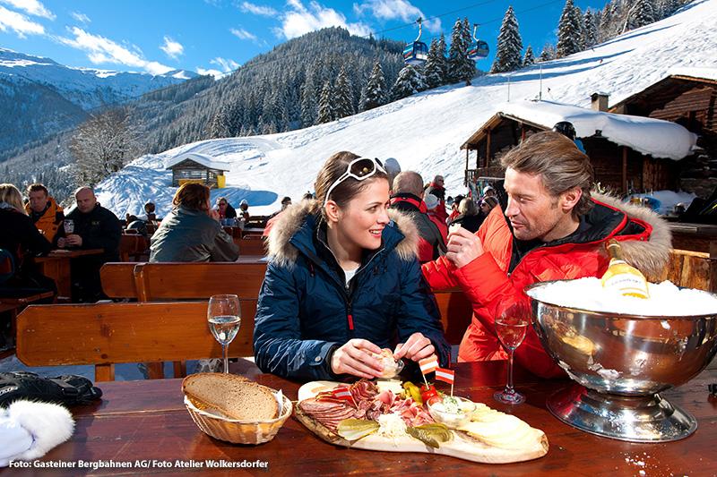 Skihütten im Gasteinertal