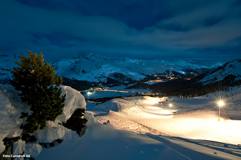 Snow Night Piste