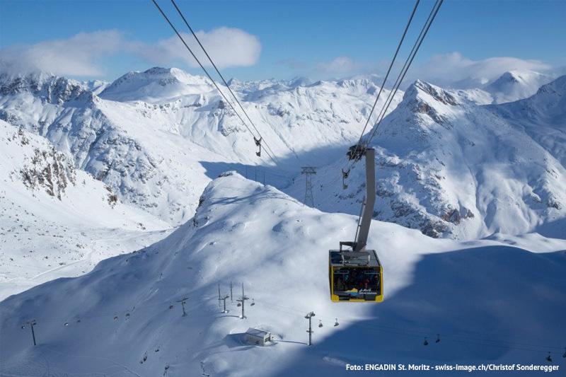 Mit der Diavolezza Luftseilbahn auf 2.978 m