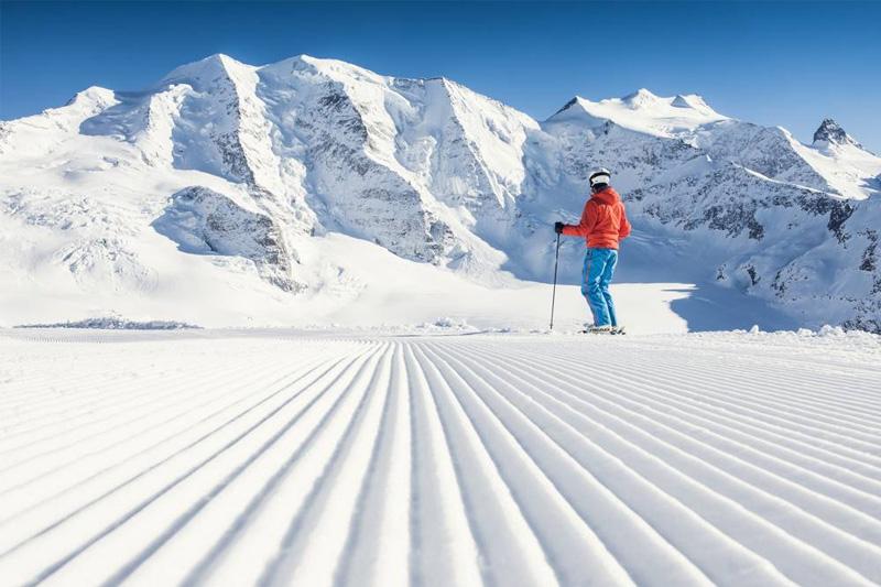 Skifahren auf der Diavolezza
