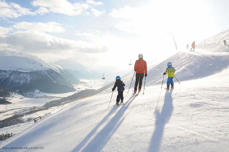 Skifahren im Skigebiet St. Moritz - Zuoz