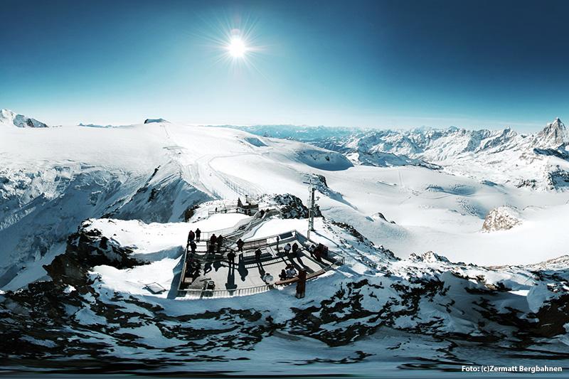 Aussichtsplattform Matterhorn glacier paradise