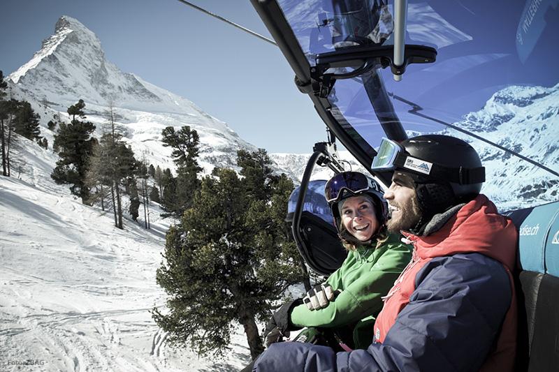 Sessellift in Matterhorn Ski Paradise