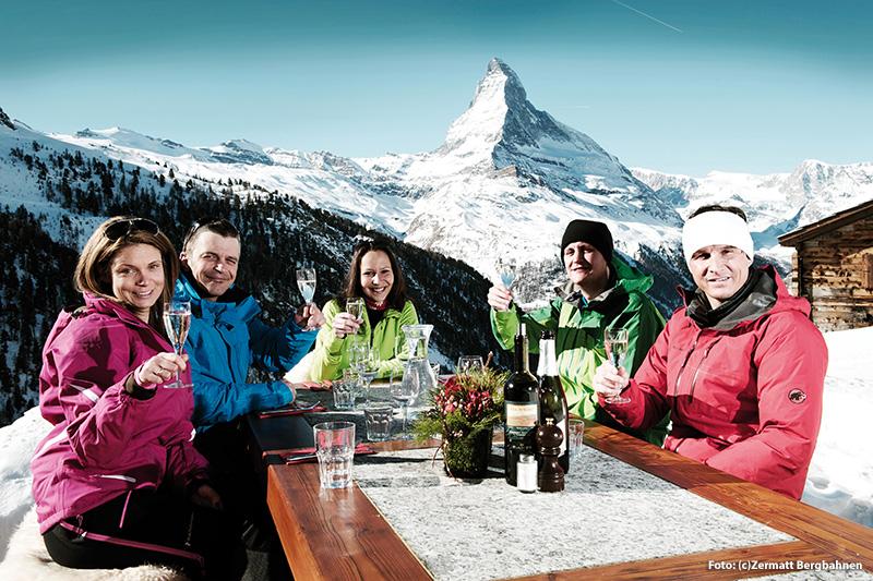 Höchster Genuss in den Bergrestaurants im Matterhorn ski paradise