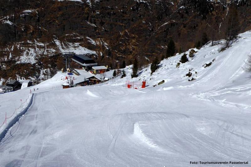 Funpark im Skigebiet Pfelders