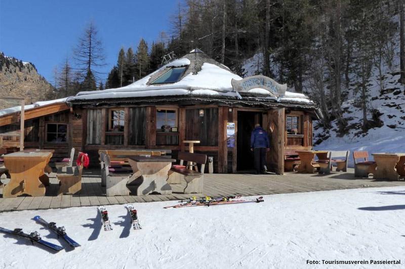 Skihütte in Pfelders