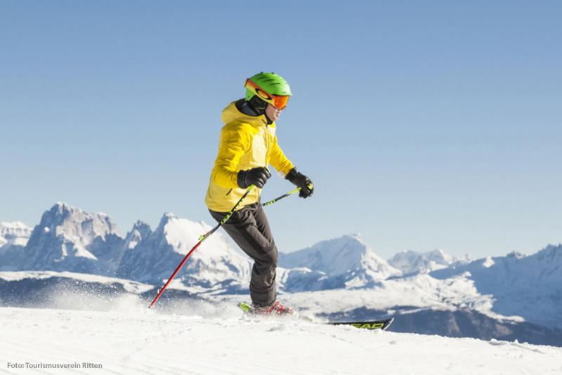 Skifahren im Skigebiet Rittner Horn