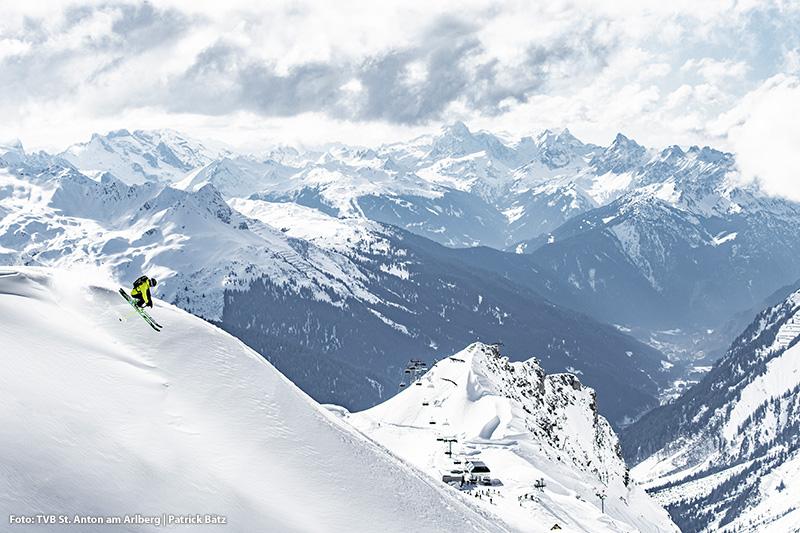 200 Kilometer markierte Powder-Runs im Skigebiet St. Anton