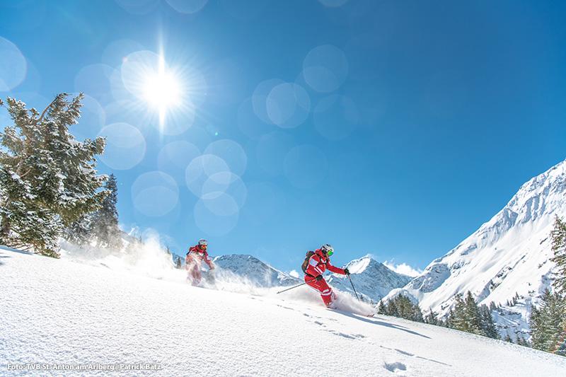 Freeriden im Skigebiet St. Anton