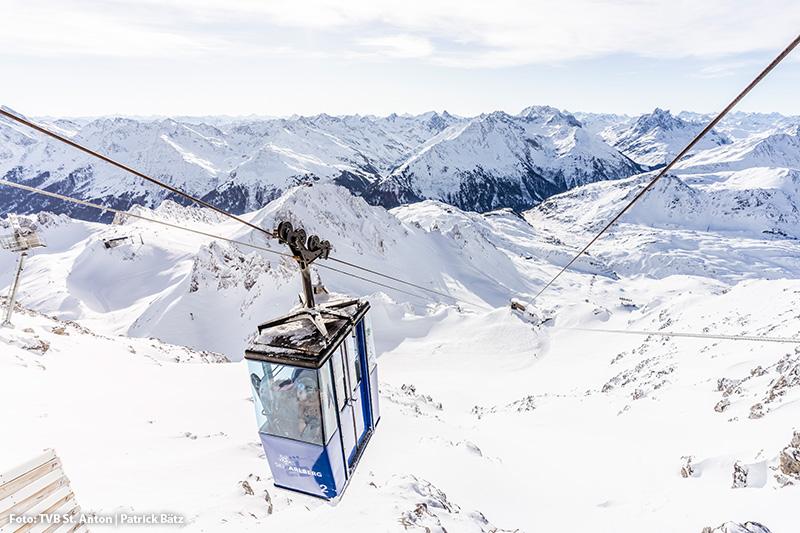 Mit der Vallugabahn auf das Dach des Arlbergs