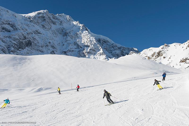 Skifahren im Skigebiet Sulden am Ortler