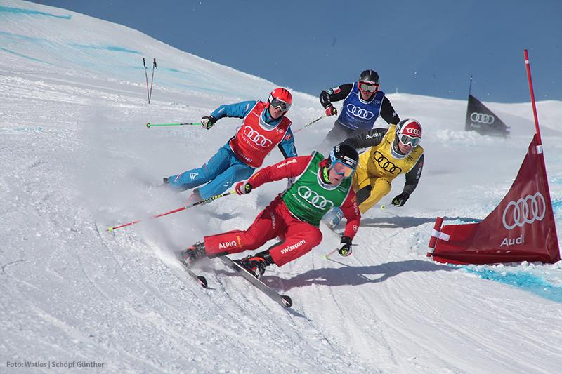 Skicross im Skigebiet Watles