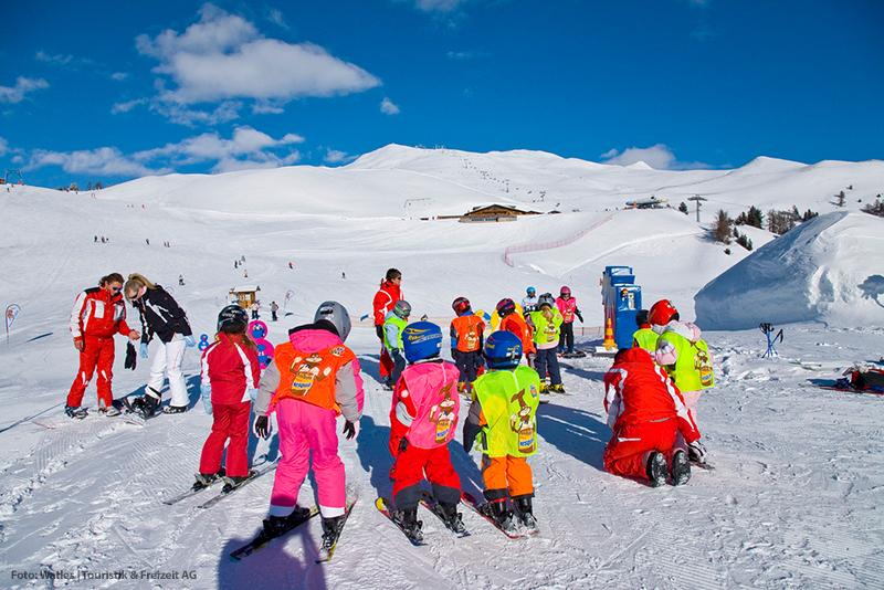Kinderskigarten im Skigebiet Watles