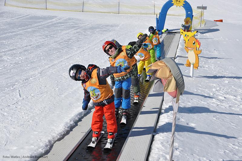 Skikindergarten Bubo im Skigebiet Watles