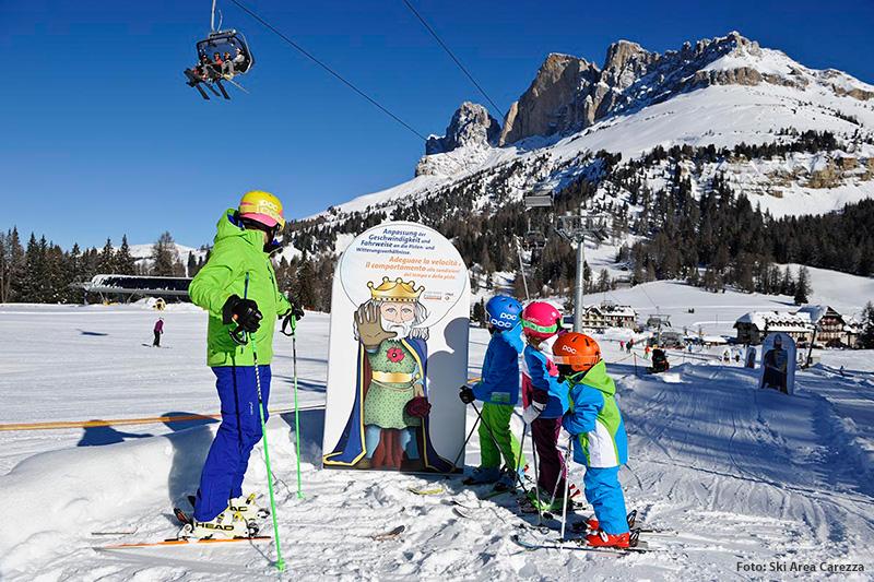 Familienskigebiet Karersee / Dolomiten