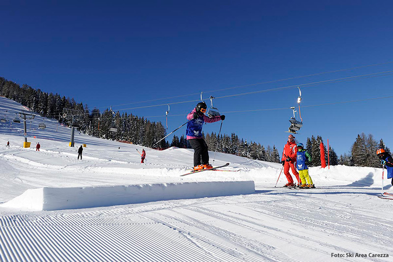 Family-Fun-Snowpark im Skigebiet Karersee-Deutschnofen (Carezza Ski)