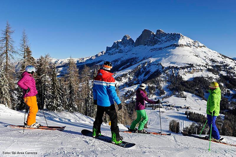Skigebiet Karersee zwischen-Rosengarten und Latemar