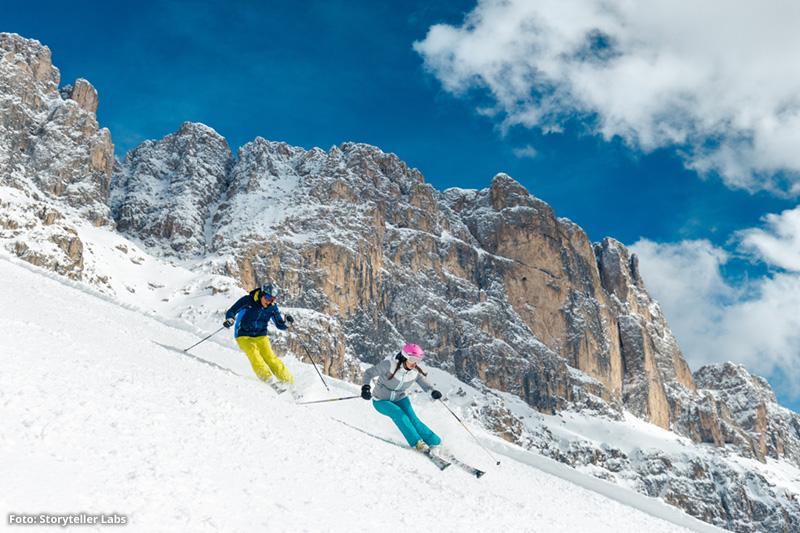 Skifahren im Paradies