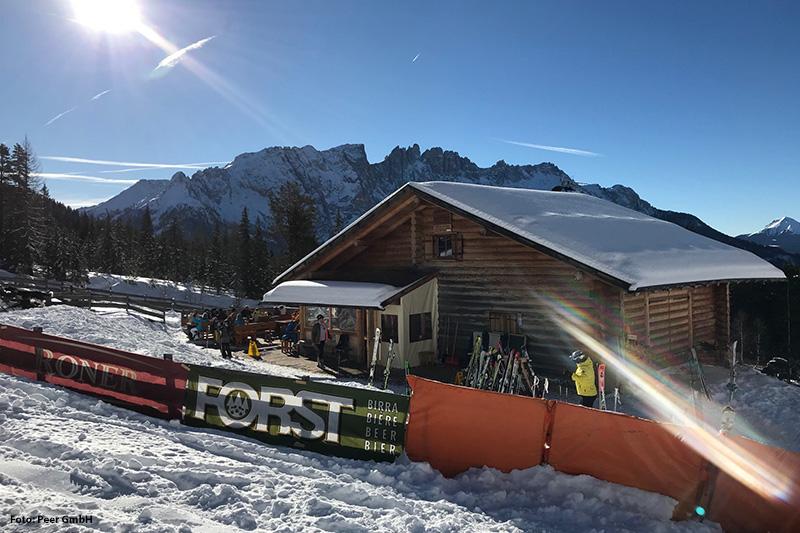 Skihütte im Skigebiet Karersee-Deutschnofen