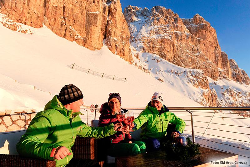20 Skihütten im kigebiet Karersee-Deutschnofen