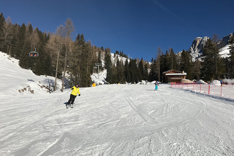 Skipiste im Skigebiet Karersee-Deutschnofen