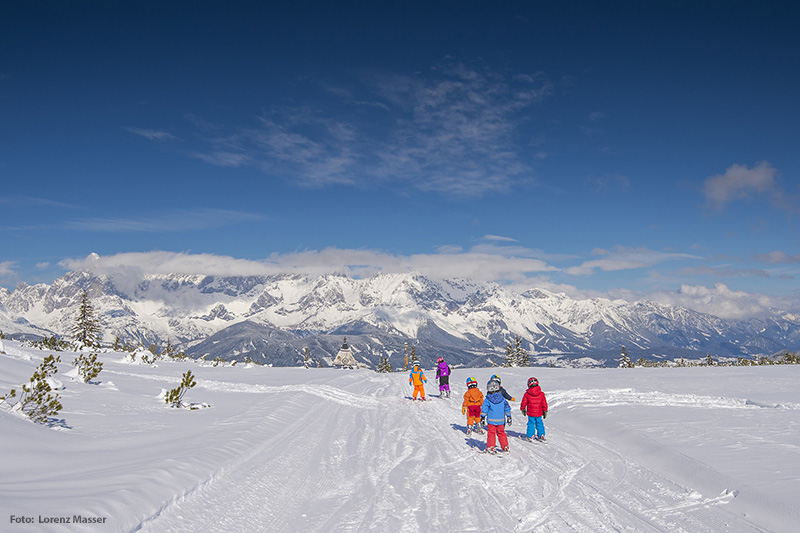Kinderskikurs im Skigebiet Fageralm