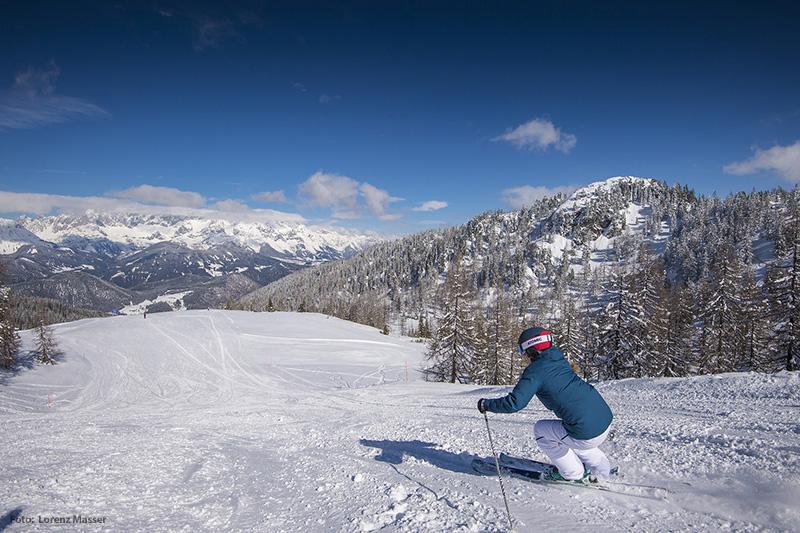 Skifahren im Skigebiet Fageralm