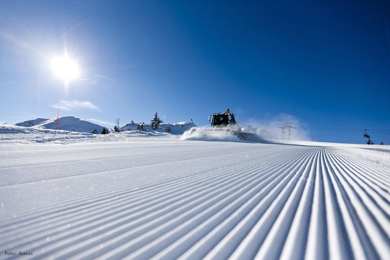 Pistenpräparierung im Skigebiet Reiteralm