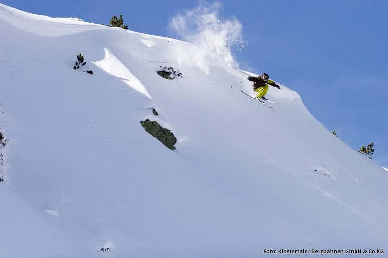 Freeride im Skigebiet Sonnenkopf