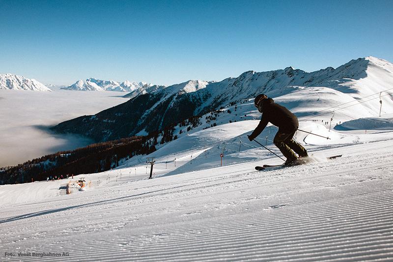 Skifahren im Skigebiet Venet Landeck