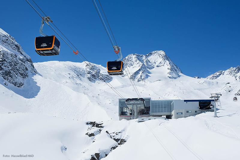 Bergbahn der Talstation