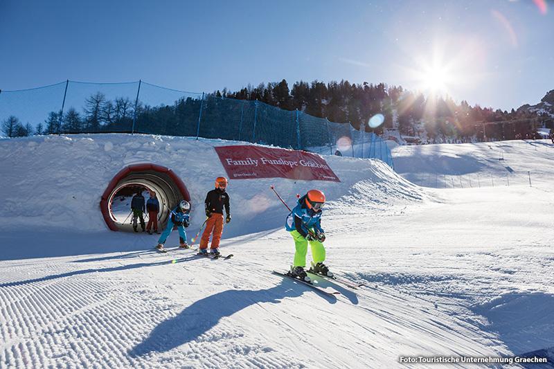 Funslope im Skigebiet Grächen