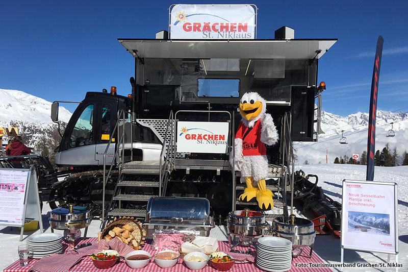 Gourmettower im Skigebiet Grächen