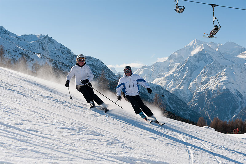Skifahren im Skigebiet Grächen