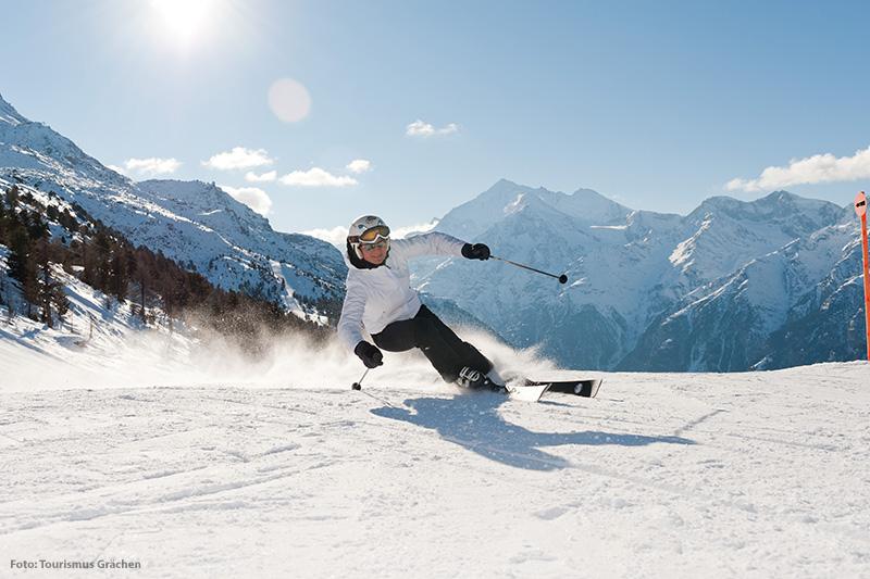 Skifahren in Grächen