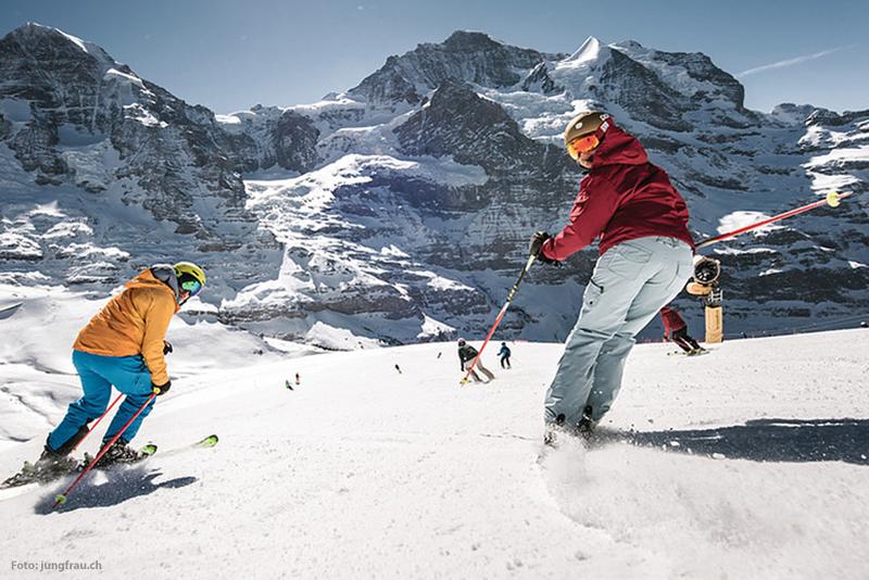 Skifahren im Skigebiet Grindelwald-Wengen