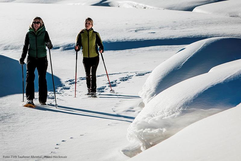 Schneeschuhwandern in Rein in Taufers