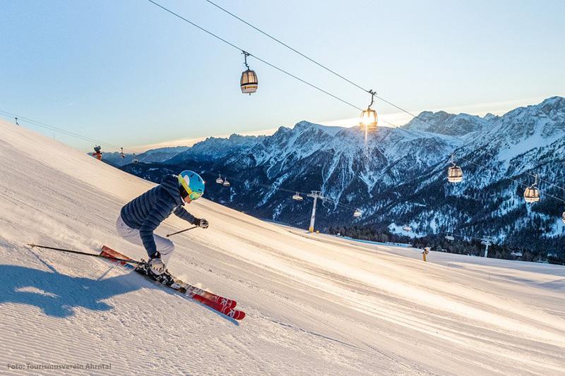 Skifahren im Skigebiet Speikboden