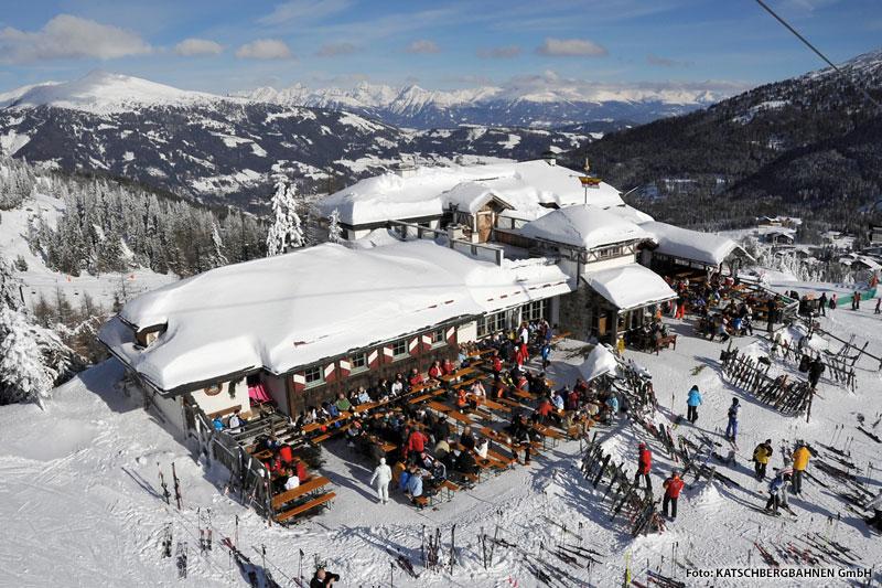 Skihuette im Skigebiet Katschberg
