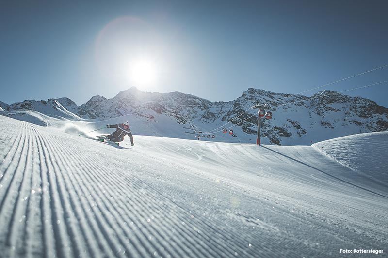 Skifahren im Skigebiet Klausberg