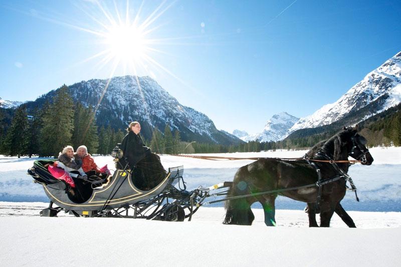 Romantische Pferdeschlittenfahrt am Achensee
