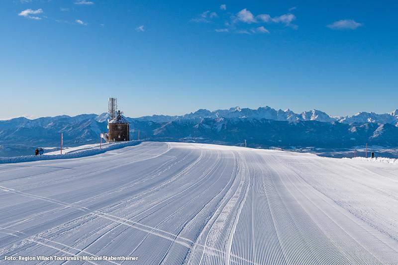 Perfekte breite Pisten bietet Dir das Skigebiet Gerlitzen Alpe