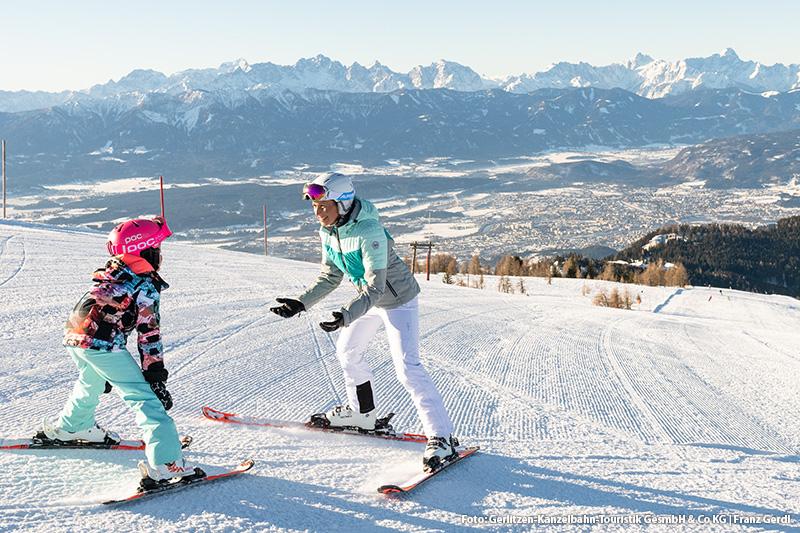Skifahren lernen? Hier perfekt - dank den breiten Pisten gut umsetzbar