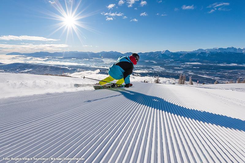 Skifahren mit einer super Aussicht
