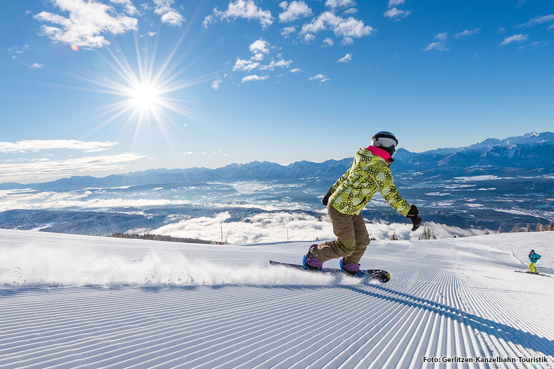 Freeride und Snowboarden in Gerlitzen