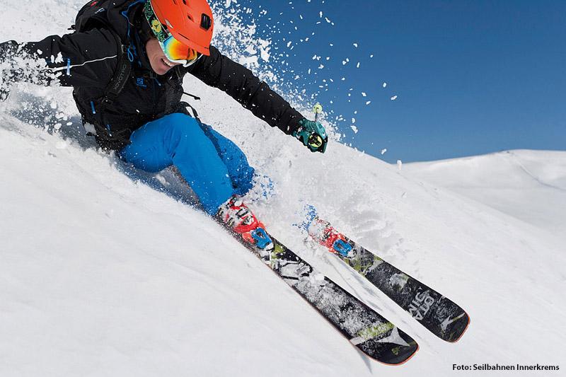 Skispaß im Tiefschnee