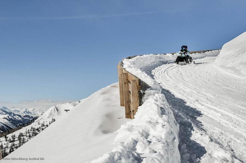 Rodeln am Gitschberg in Südtirol ist nichts für Angsthasen
