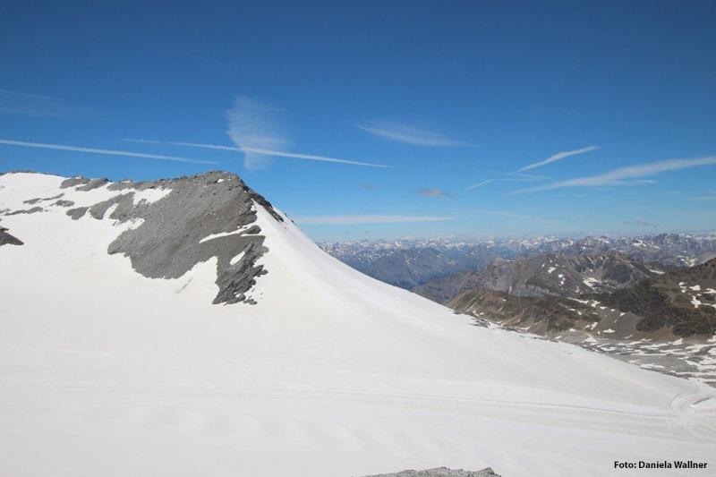 Gletscherskigebiet bis auf 3.450 m Höhe