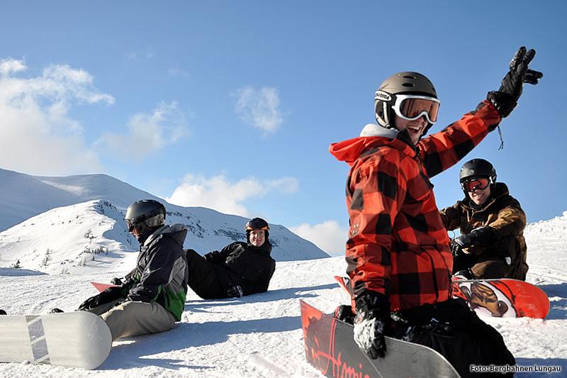 Snowboarder am Grosseck-Speiereck