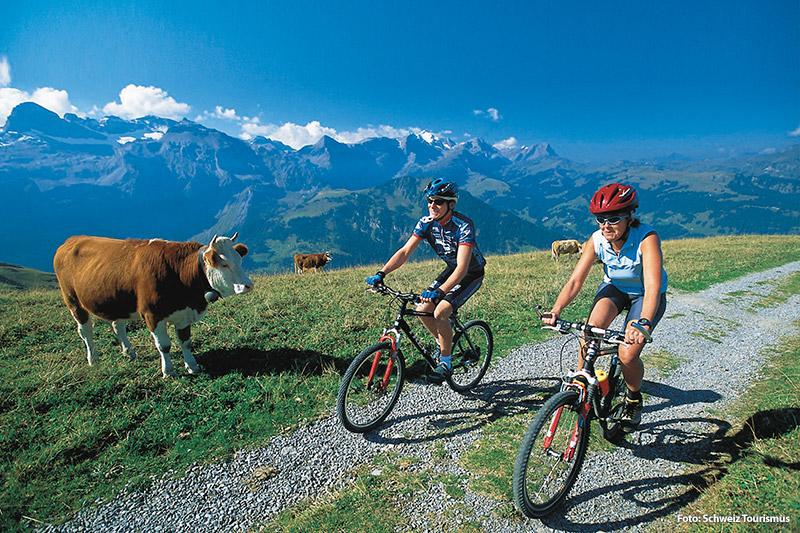 Radurlaub im Berner Oberland in der Schweiz